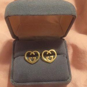 G u c c i Heart earrings